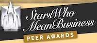 Stars Who Mean Business Peer Awards button