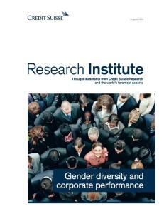 Gender Diversity Credit Suisse
