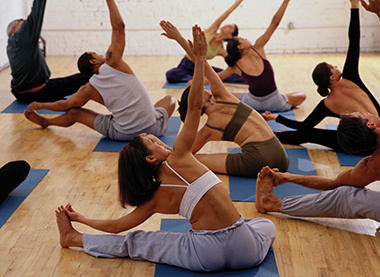 People Taking a Yoga Class